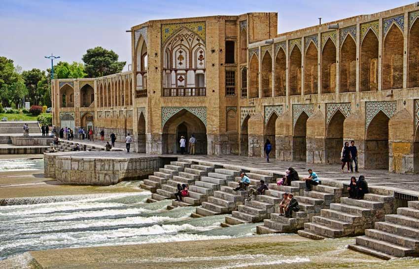 پل خواجو اصفهان دیدنیهای اصفهان