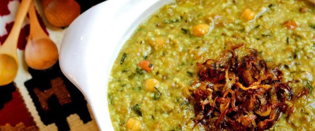 غذاهای سنتی آش سبزی