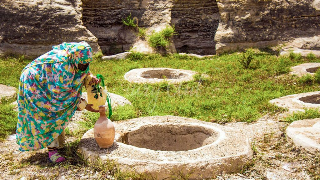 چاه های تلا روستای لافت قشم